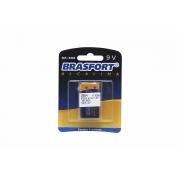 Pilha Bateria Alcalina 9 Volts Brasfort