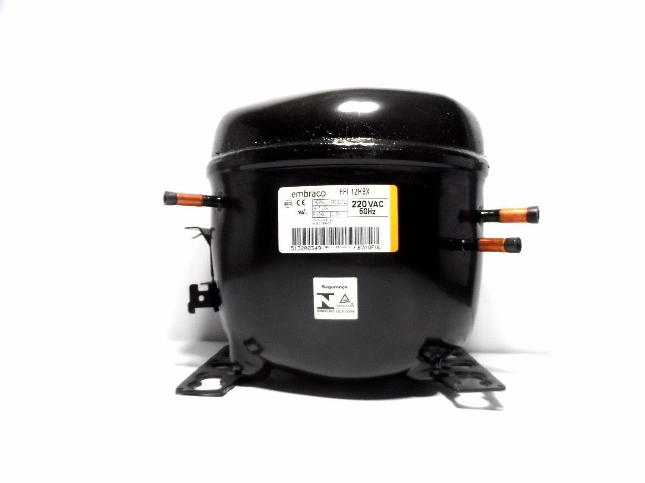 Motor Compressor Embraco 1/3+ 220V R134A Geladeira FFI12HBX W10393823