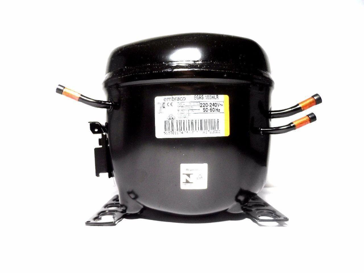 Motor Compressor Embraco 1/3 220V R134A Geladeira EGAS100HLR W10393815