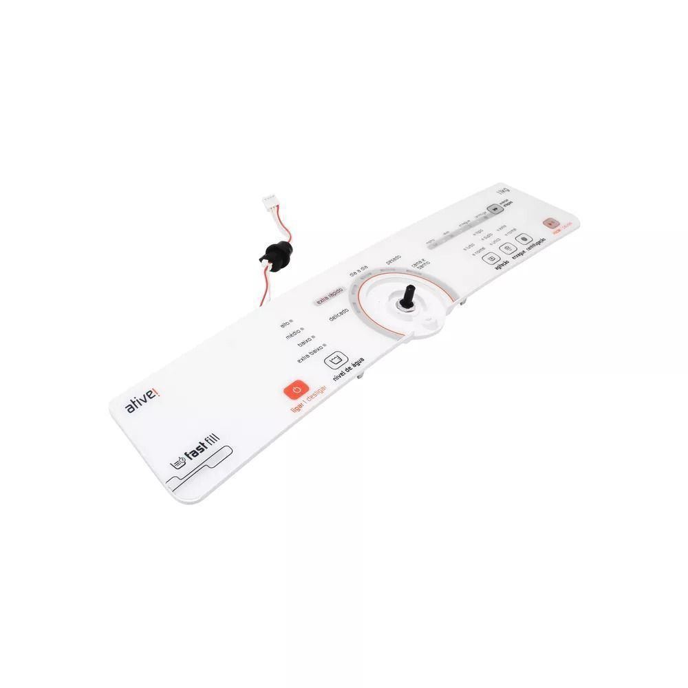 Conjunto Console Placa Interface Lavadora Bivolt Brastemp W10463578
