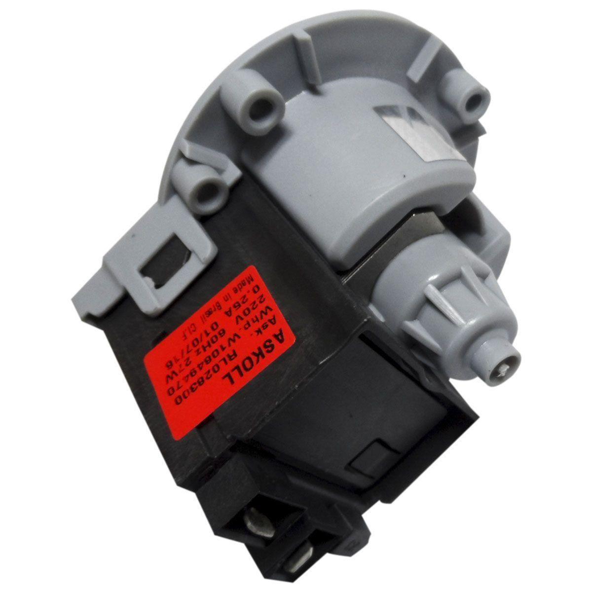 ELETROBOMBA SEM CORPO LAVADORA BRASTEMP CONSUL 220V W10648585
