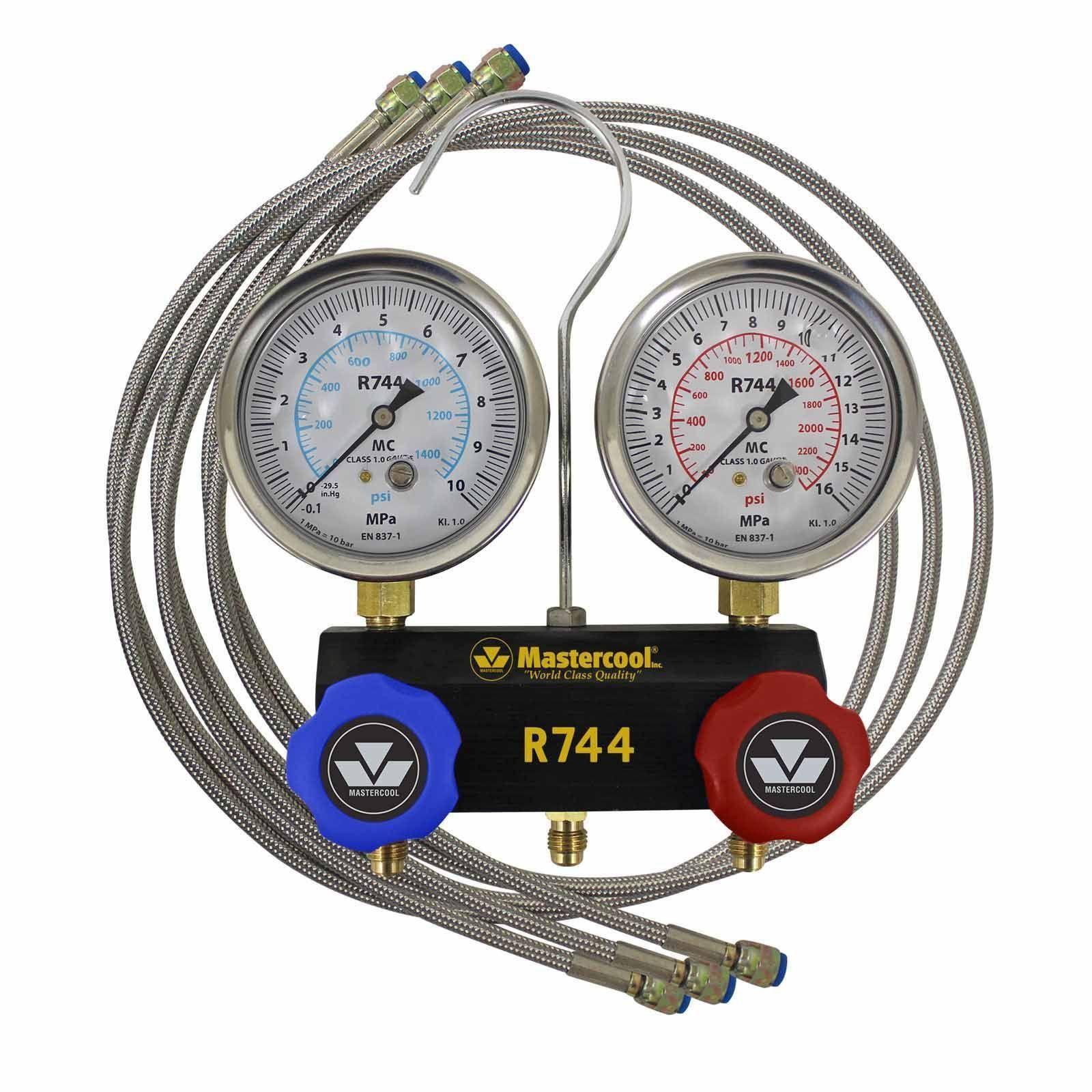 Manifold Pressão C02 R744 Mangueira Trançada 150cm 55661 Mastercool