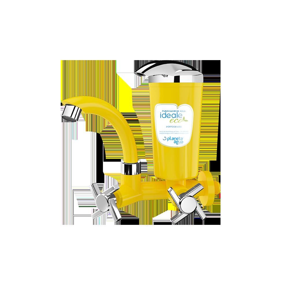 Purificador Ideale Eco Amarelo Cromado Planeta Água
