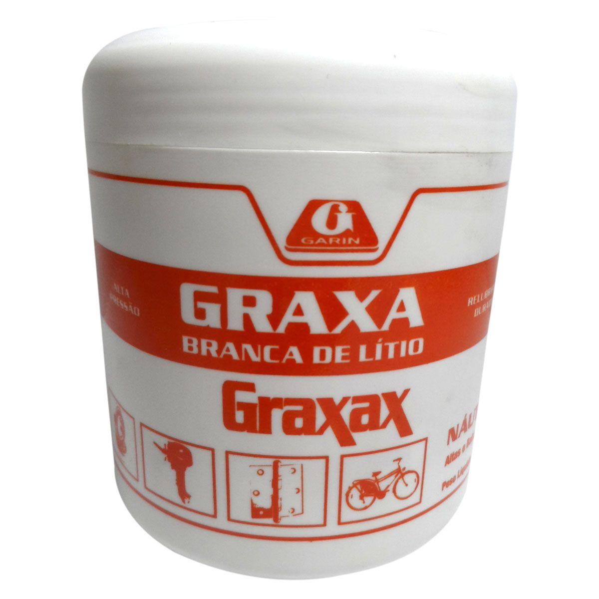 GRAXA GARIN LITIO BRANCA 500 GRAMAS
