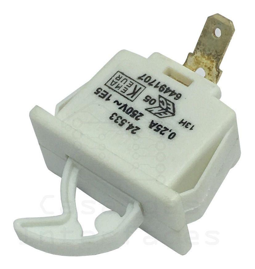 Interruptor Luz Refrigerador Electrolux 64491707
