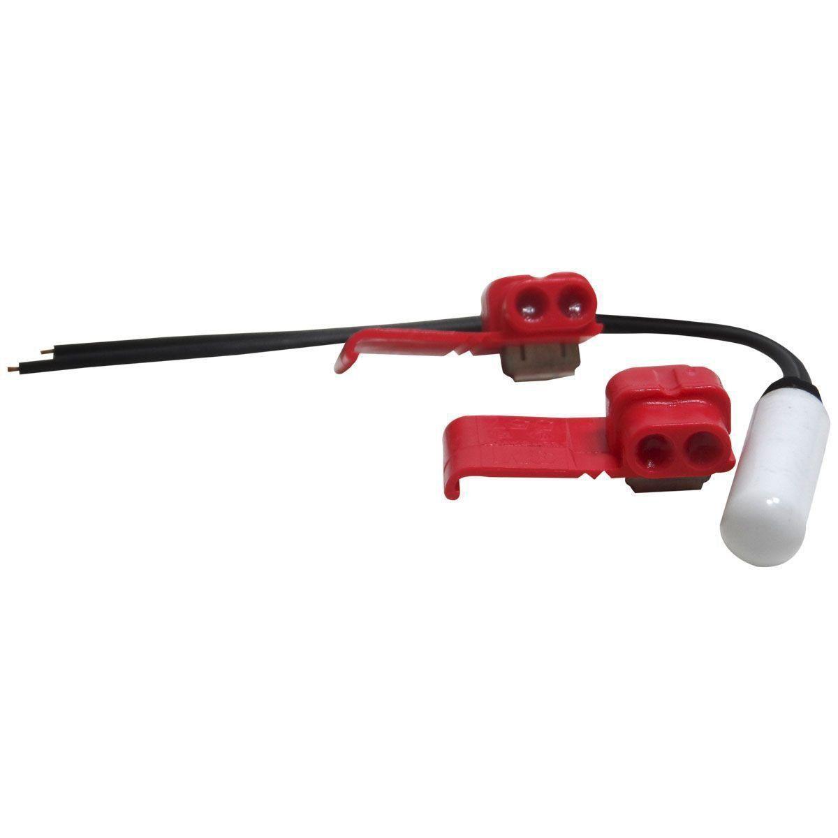 Kit Sensor Temperatura Refrigerador Brastemp/Consul Original 25mm 2,7 ohms - W10531315