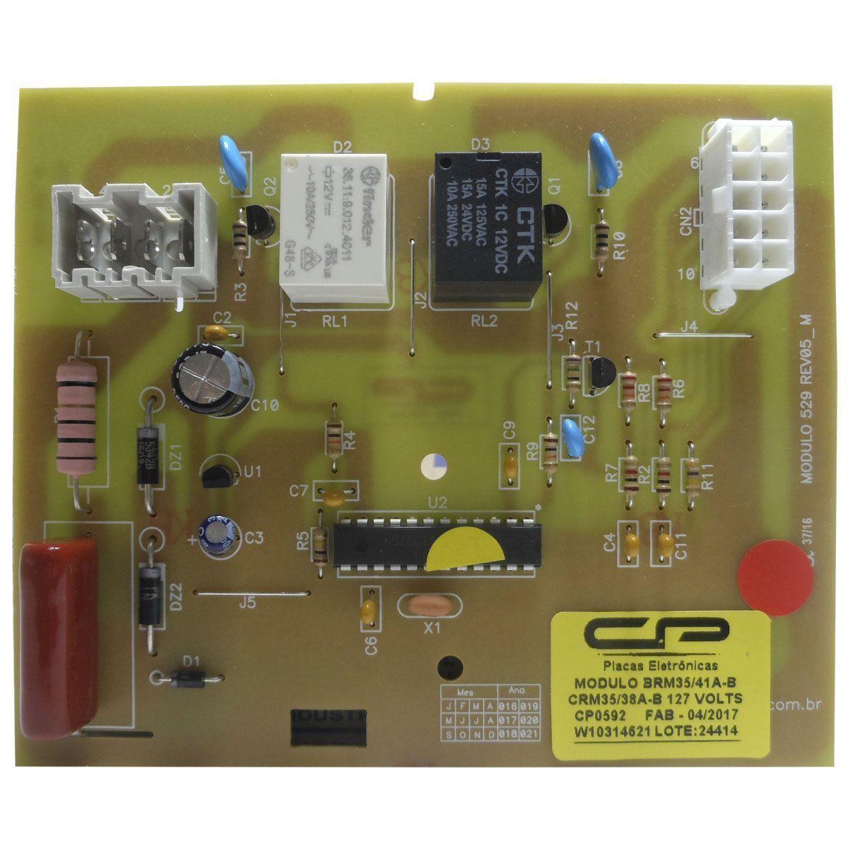 Controle Eletrônico 127V Compatível Refrigerador Brastemp Consul CP0592