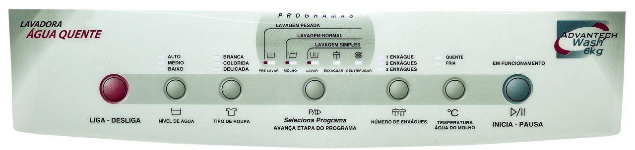 PAINEL DECORATIVO LAVADORA BRASTEMP 6KG C.P