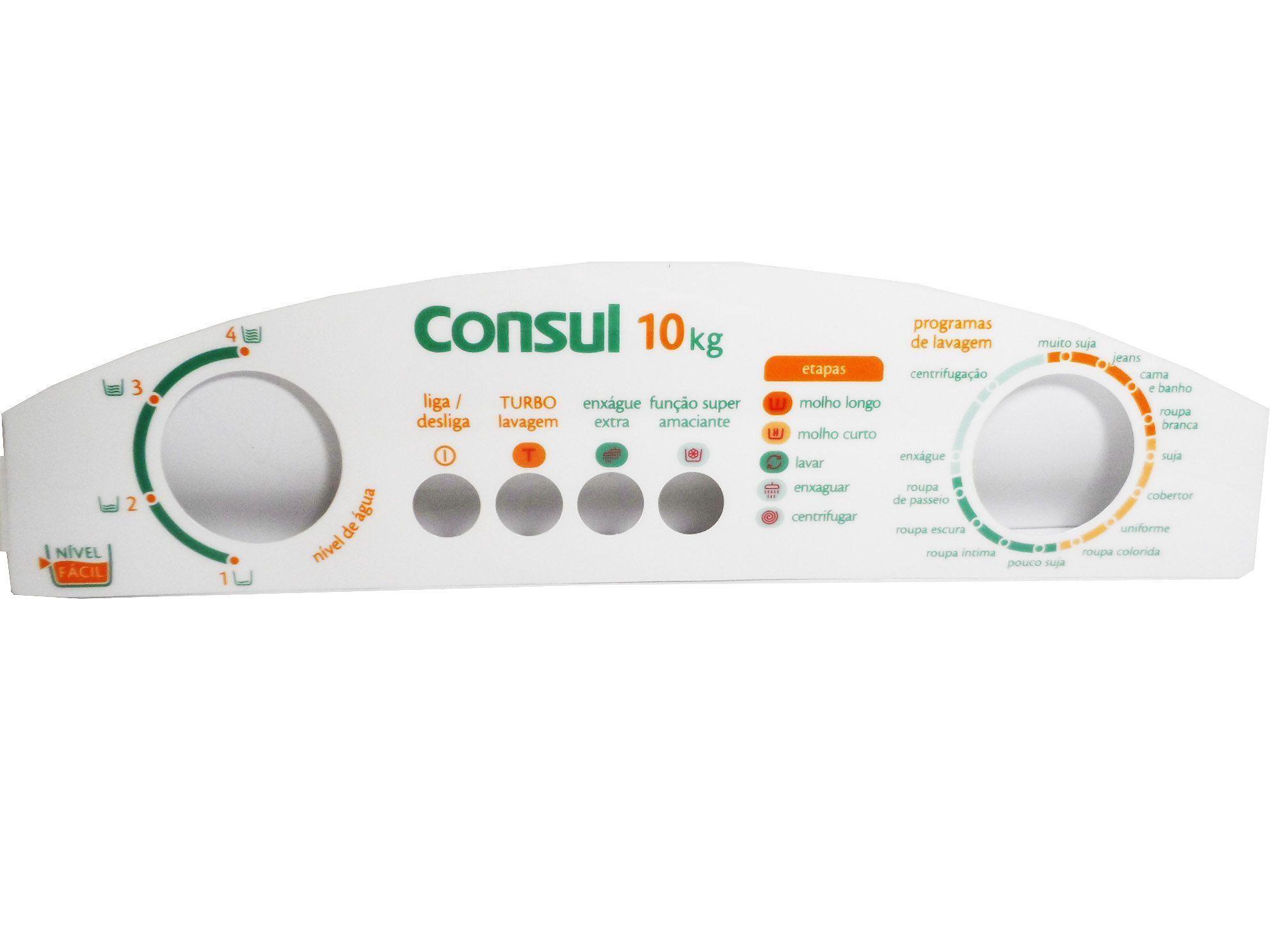 Adesivo Painel Decorativo Lavadora Consul CWL10 326057063