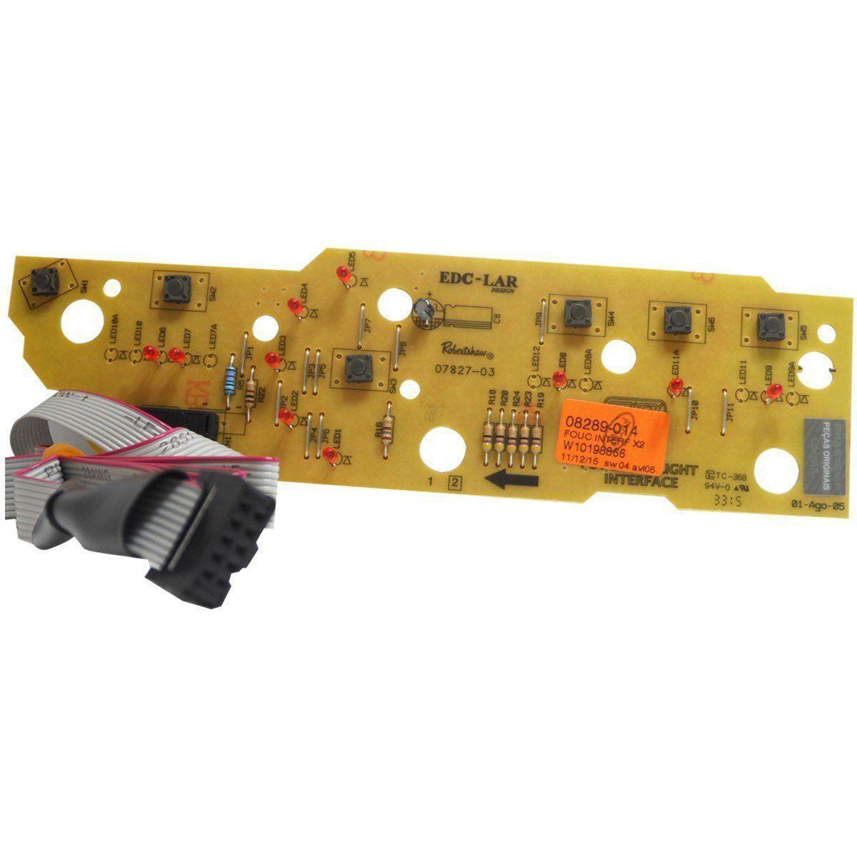 Placa Eletrônica Interface Lavadora Brastemp Bivolt W10198866