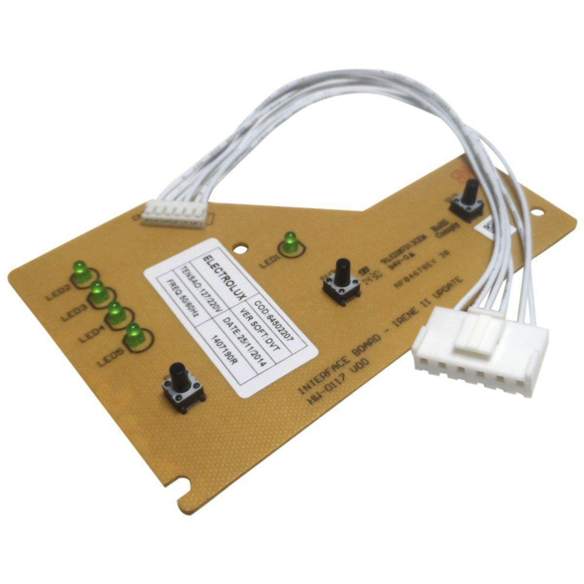 Placa Eletrônica Interface Com Chicote Lavadora Electrolux 64502207