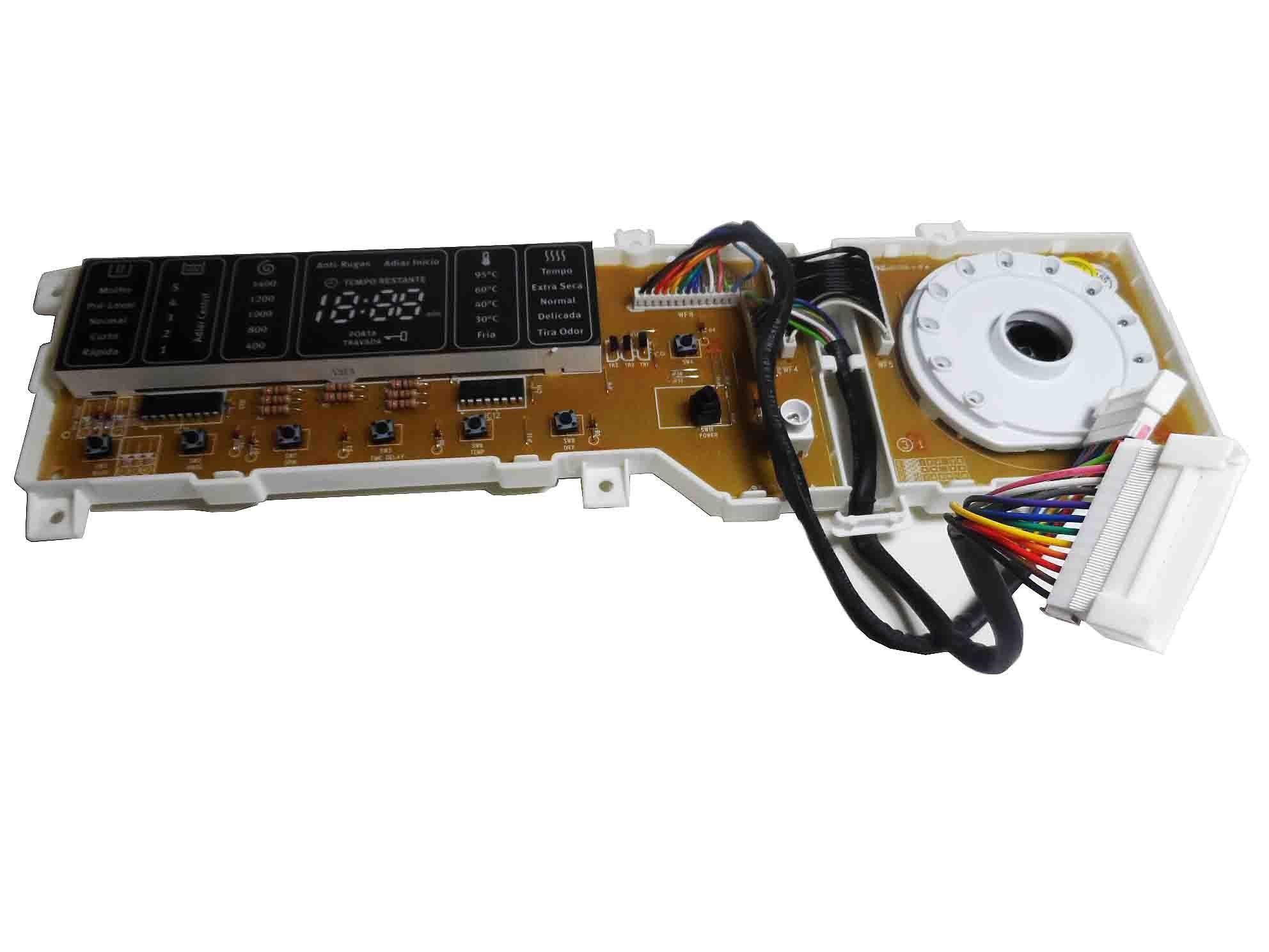 Placa Eletrônica Interface Lava Seca Electrolux 127V PRPSSWL076
