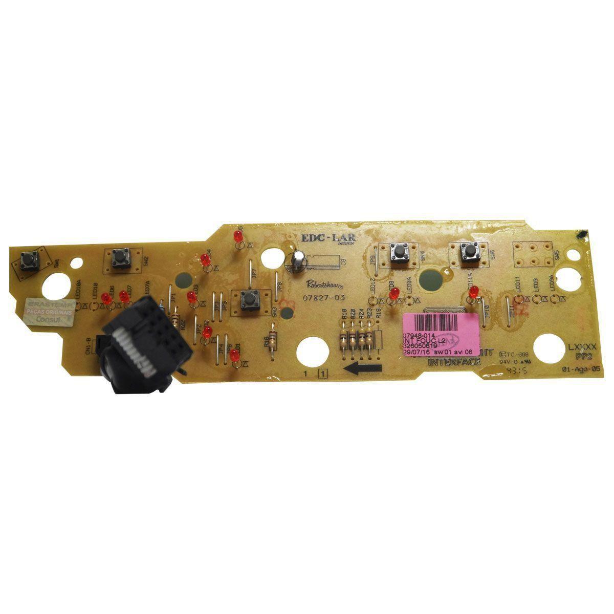 Placa Eletrônica Interface Lavadora Brastemp 326050619