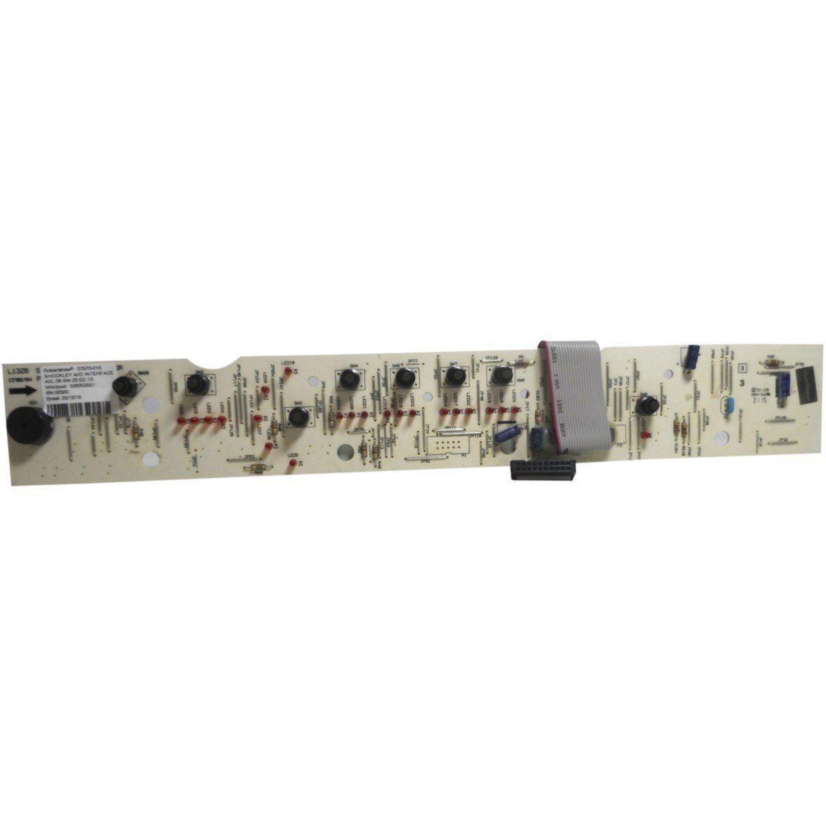 Placa Eletrônica Interface Lavadora Brastemp Bivolt  326053551