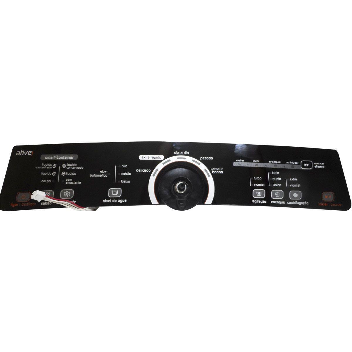 Placa Eletrônica Interface Lavadora Brastemp Bivolt Console Preto W10463580