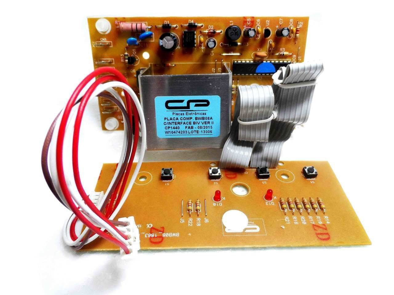 Placa Eletrônica Potência e Interface Lavadora Brastemp Bivolt BWC08A Versão 2 CP 1440