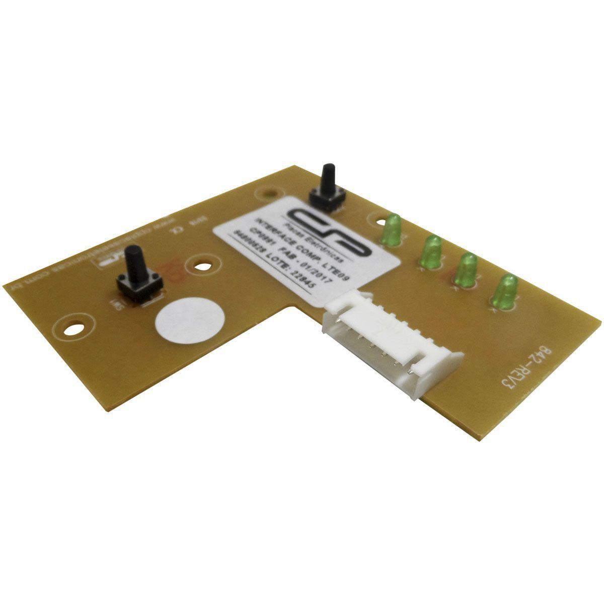 Placa Eletrônica Interface Lavadora Electrolux/C.P 64800628/64500189