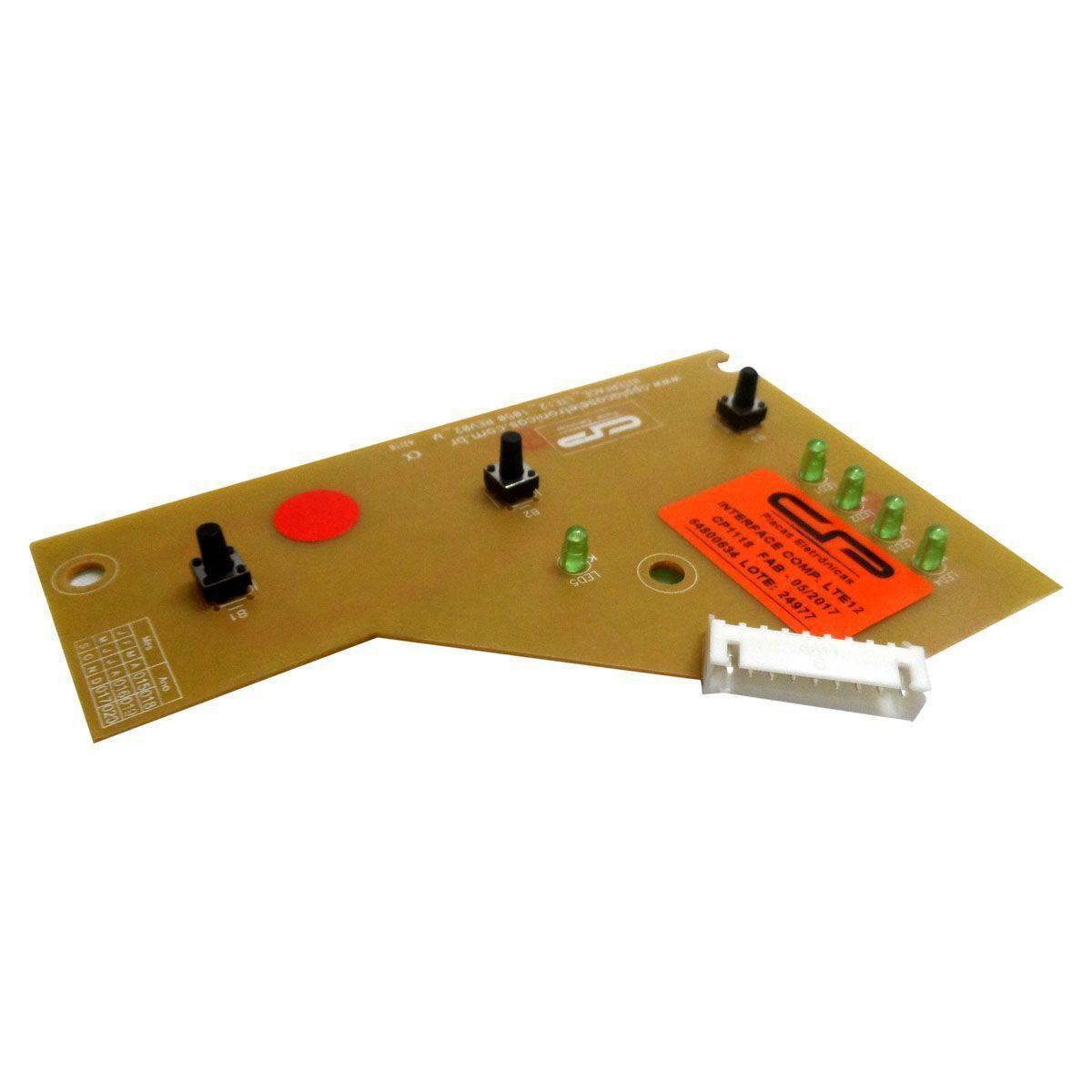 Placa Eletrônica Interface Lavadora Electrolux/C.P