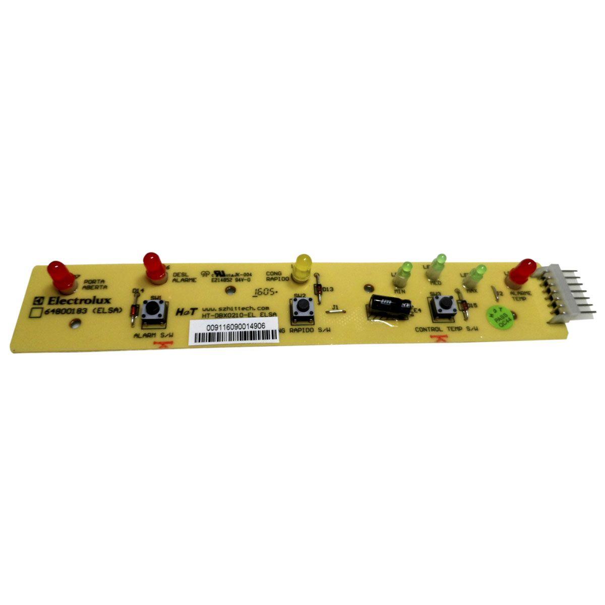 Placa Eletrônica Interface Painel Refrigerador Electrolux 64800183
