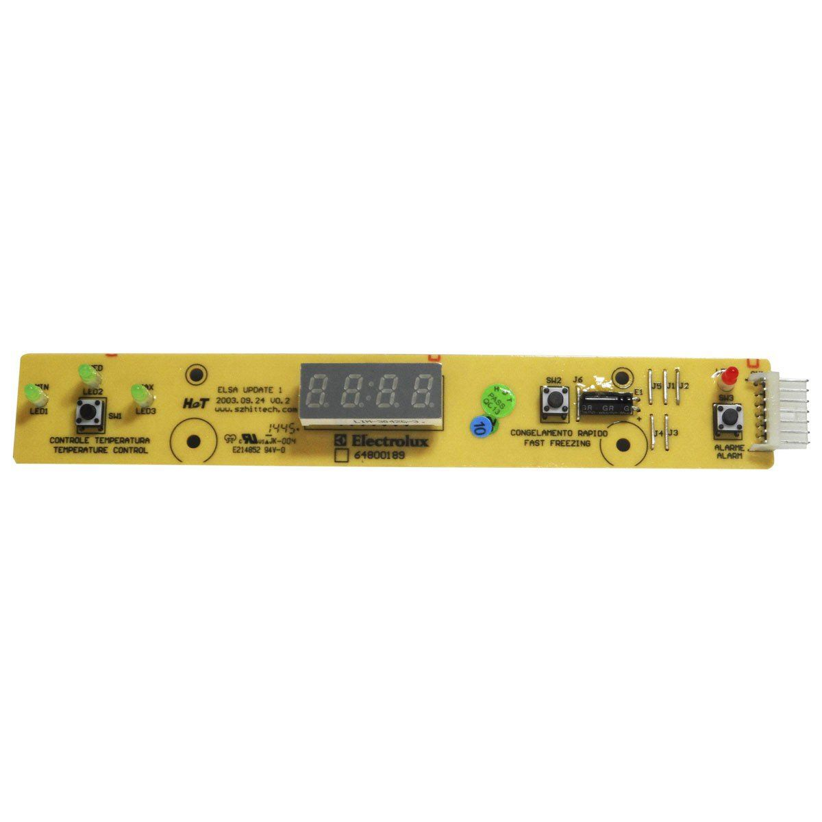 Placa Eletrônica Interface Refrigerador Electrolux 64800189