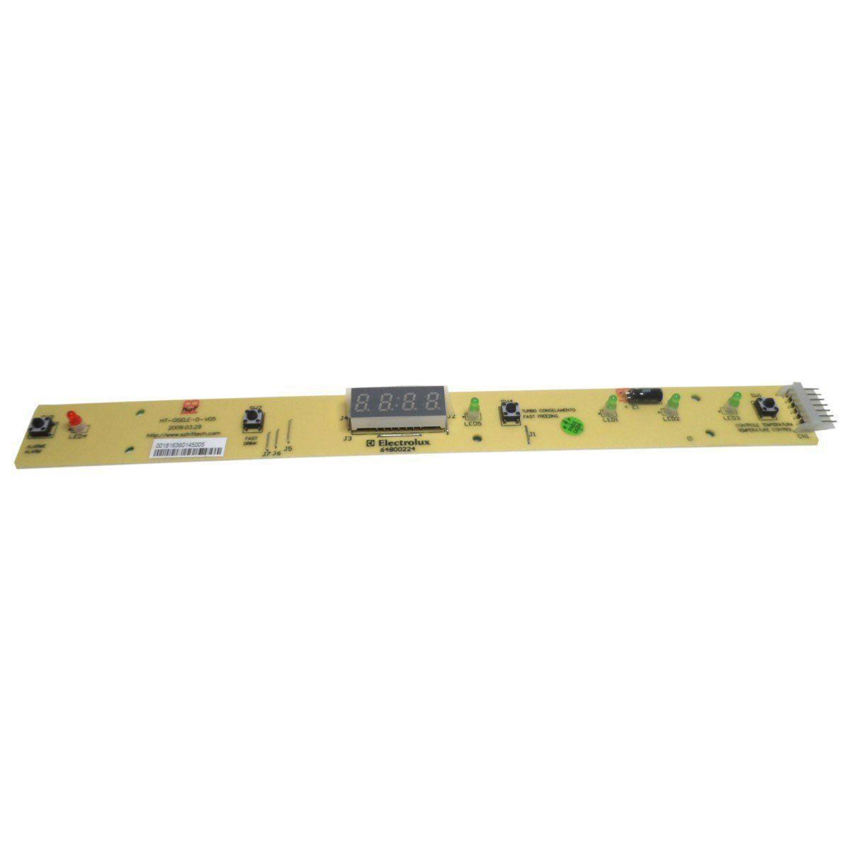 Placa Eletrônica Interface Refrigerador Electrolux 64800224
