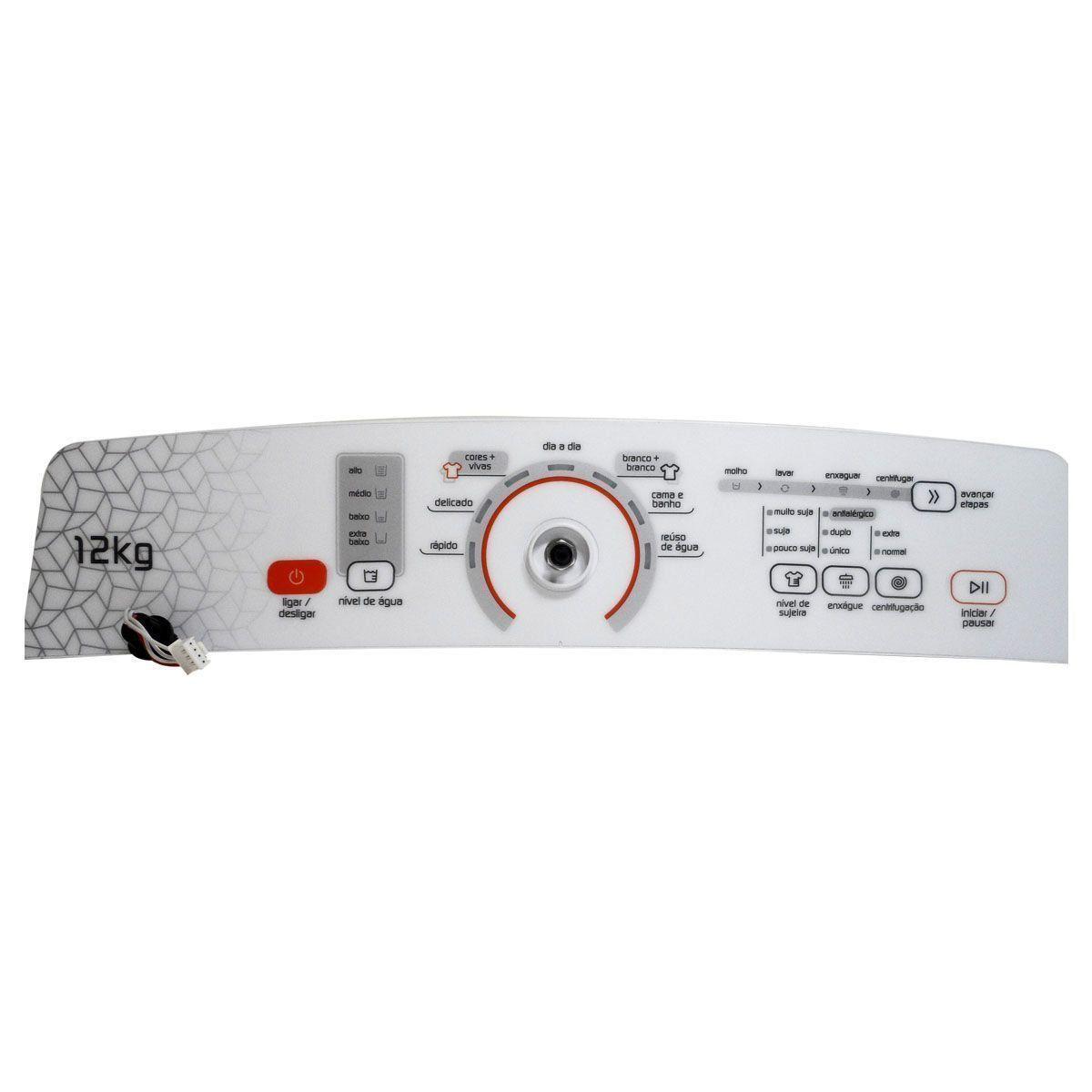 Conjunto Console Placa Interface Lavadora Brastemp Original W10772235