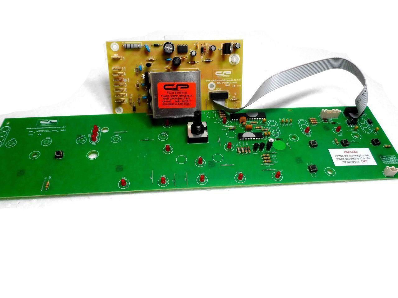 Placa Potência e Interface Lavadora Brastemp Bivolt BWL09B W10308925 CP 1043