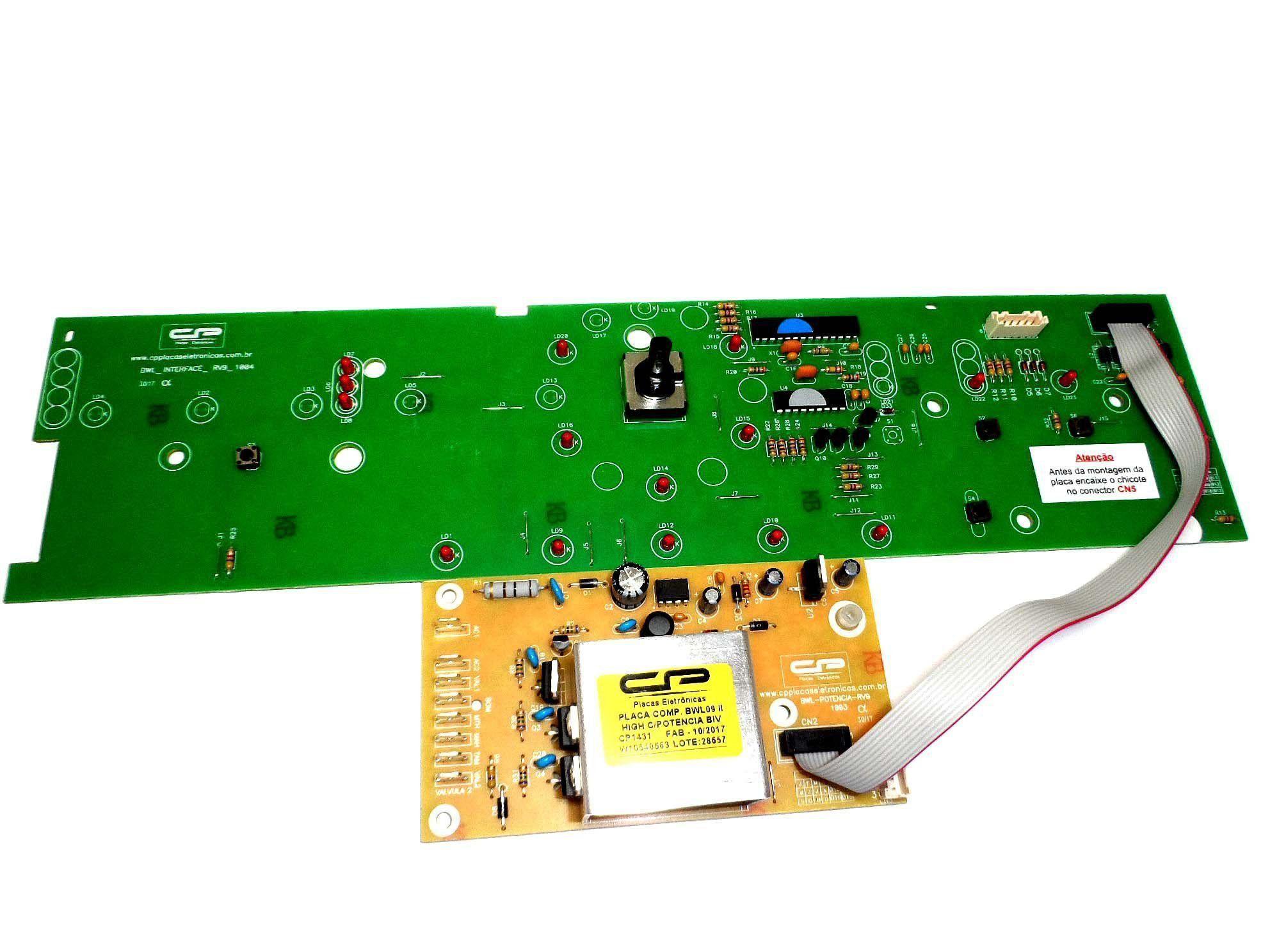 Placa Eletrônica Potência Interface Lavadora Brastemp W10356418 C.P