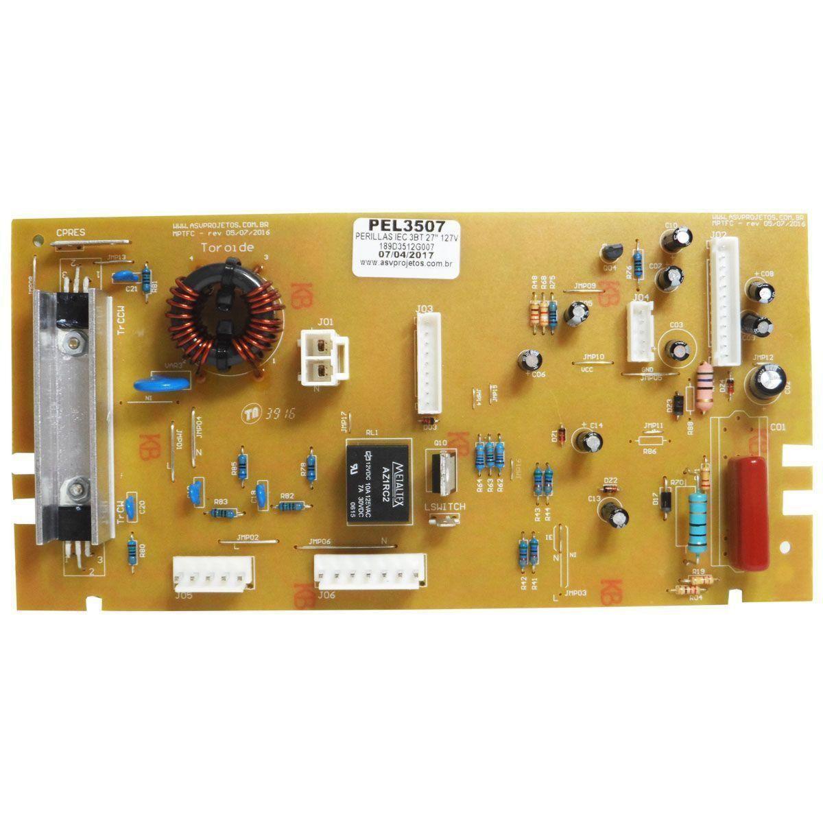 Placa Eletrônica Potência Lavadora GE 127V 189D3512G007 ASV