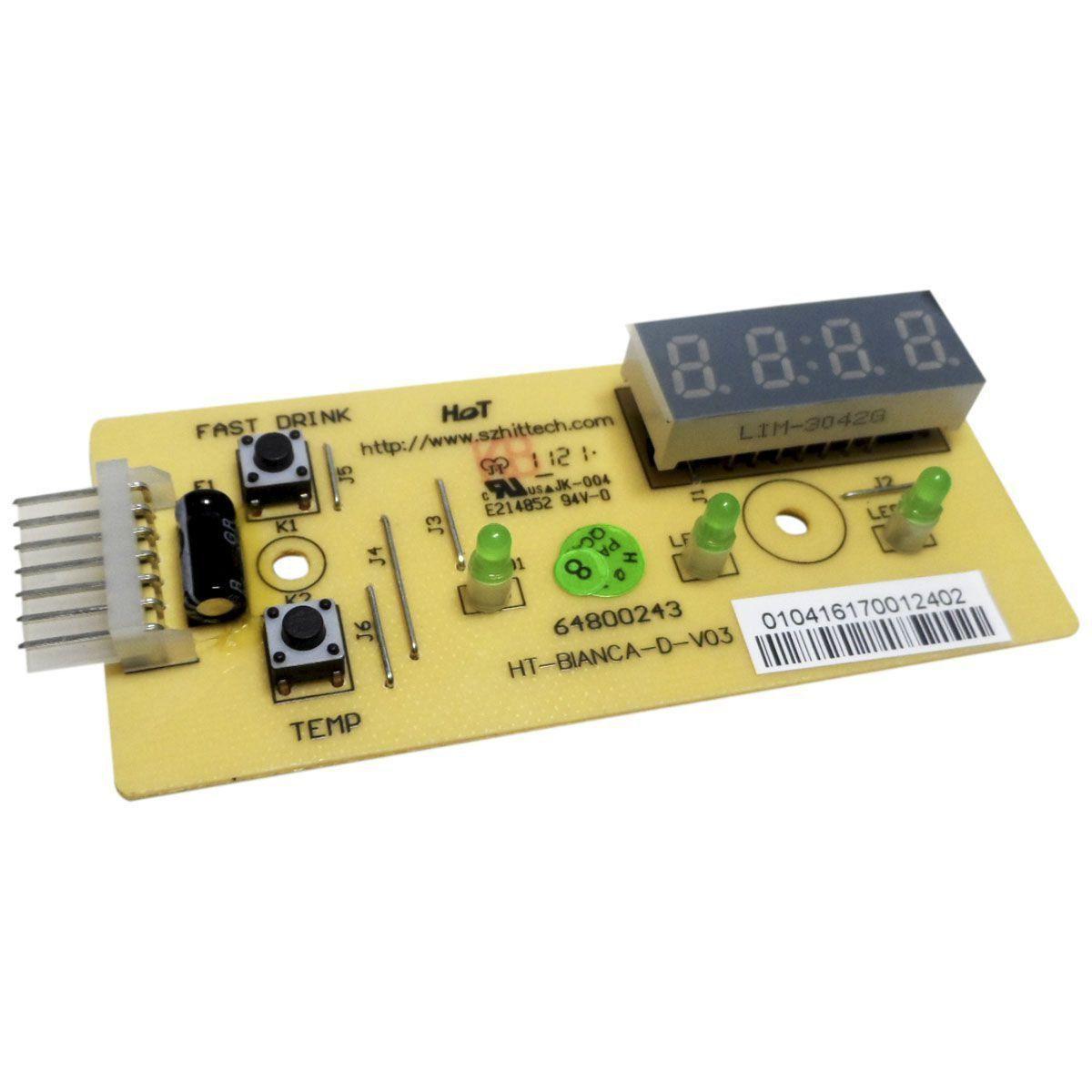 Placa Eletrônica Refrigerador Electrolux 64800243