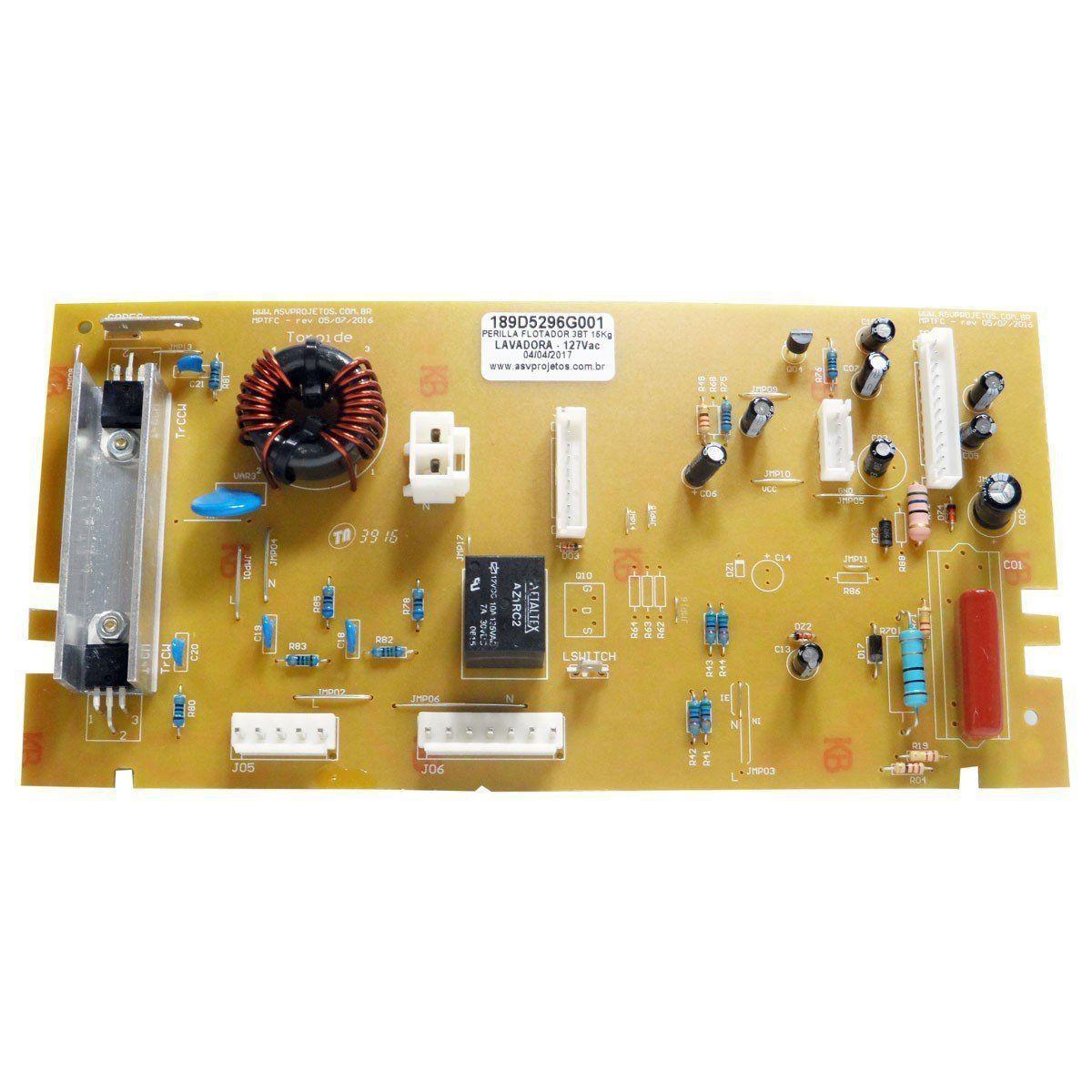 PLACA L.ROUPA GE 127V WA189D5296G001/PEL5201 ASV