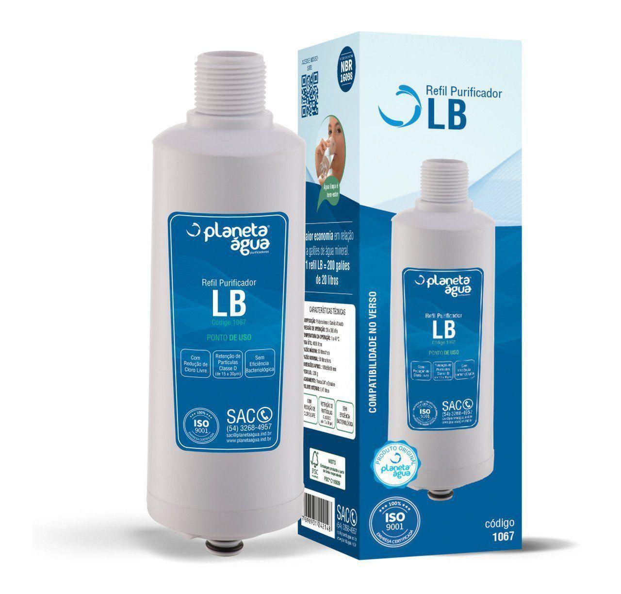 Refil Filtro Planeta Água LB para Purificador de Água Libell Flex - Compatível