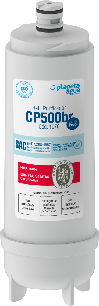 Refil Filtro CP 500BR (Masterfrio br) 1070 Planeta Água