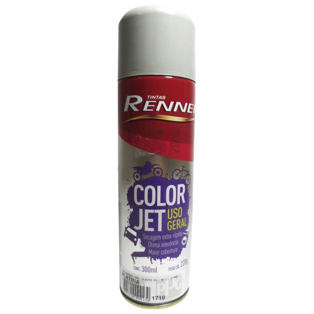 SPRAY RENNER CINZA PLATINA LATA 300 ML