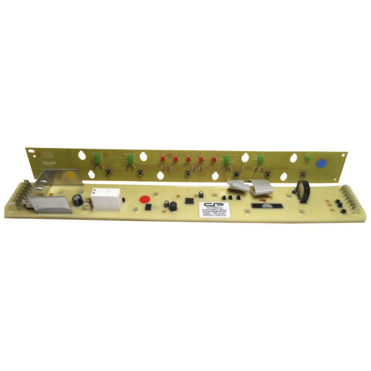 Placa Eletrônica Potência e Interface Lavadora Brastemp