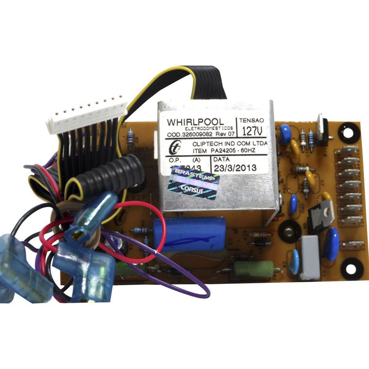Timer Eletrônica Lavadora Brastemp 127V 326009080