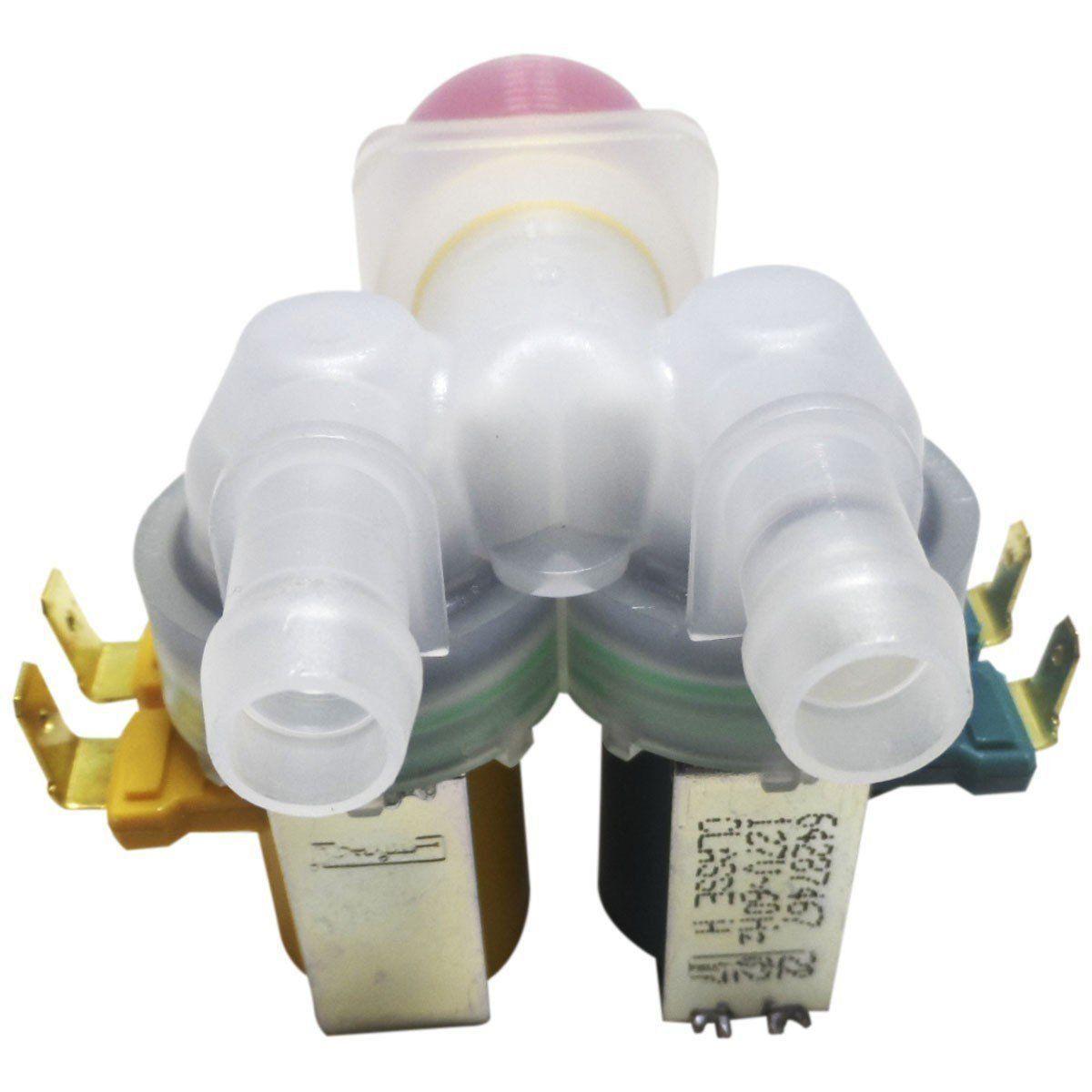 Válvula Dupla Entrada Água Lavadora Electrolux 127V 64287453 Emicol
