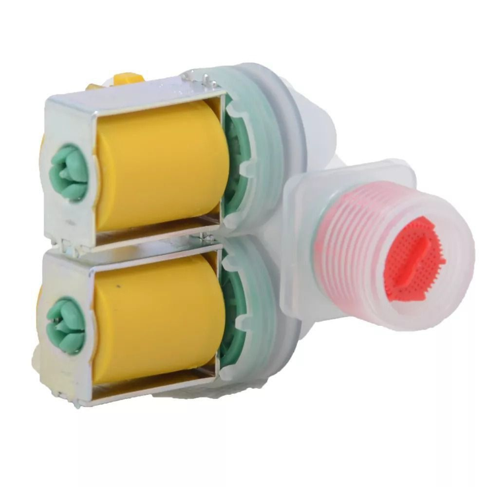 Válvula Água Dupla Lavadora ELectrolux 127V Emicol 64287453