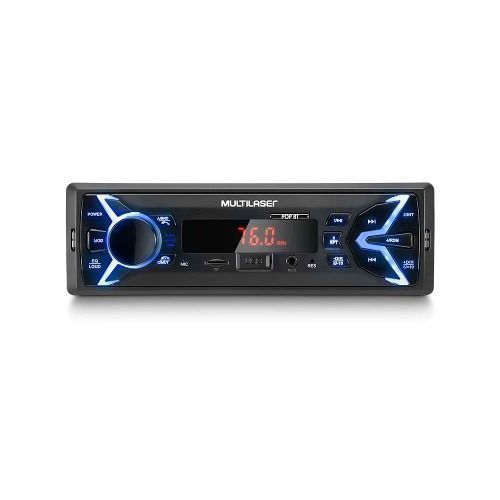 Auto Radio Multilaser Pop Bt P3336p Usb Aux + Pen Drive 8gb