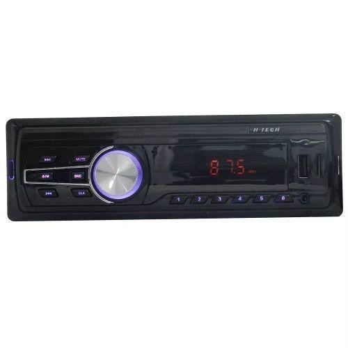 Som Auto Radio Automotivo Bt Usb Sd Card Aux Hmp-6010 H-tech