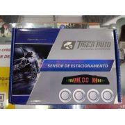 Sensor de Ré Tiger Universal 4 Pontos na Cor Prata Display