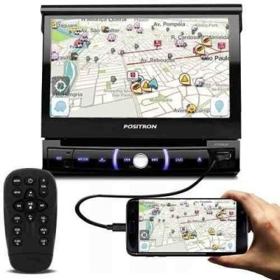 Dvd Player Automotivo Pósitron Sp6330bt 1 Din 7 Retrátil