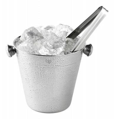 Balde De Gelo Em Aço Inox 1,5l Com Pegador Up Home Ud016