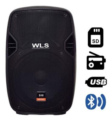 Caixa De Som Ativa 10 150w Wls S10 Bluetooth Usb Fm