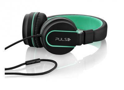 Headphone Pulse On Ear Stereo Preto/verde Ph159 Multilaser