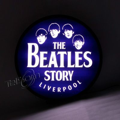 Luminoso Luminaria Parede Bar Com Led Beatles
