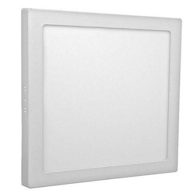 Plafon 25 W Sobrepor Quadrado Branco Quente