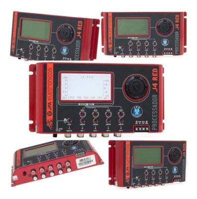 Processador De Audio Digital Jfa J4 Pro Red Crossover