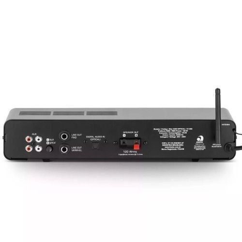 Amplificador C/ Bluetooth USB/SD/FM Frahm Slim 2200 Optical