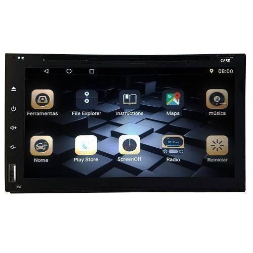 Central Multimídia Android Tv Espelhamento Bluetooth -6052